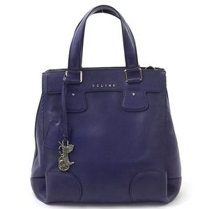 Celine Orlov Purple Leather Bag